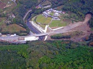 滝地区のトンネル工事現場